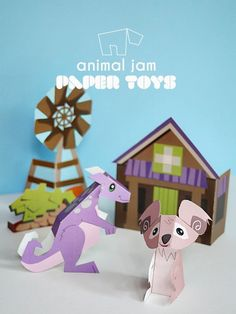 National Geographic Kids – Animal Jam Game Paper Printables – Paper Toys for Kids | Small for Big