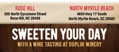 Duplin Winery is the oldest and largest winery in North Carolina producing award winning wines since 1975