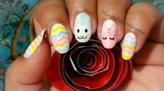 Cute Easter Bunnies With Pastel Chevrons