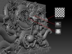 ArtStation - Dragon Wall, Vincent Chai
