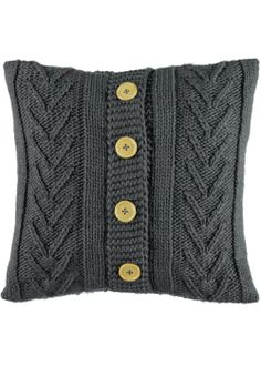 Cable Knit Cushion 48cm x 48cm - Matalan
