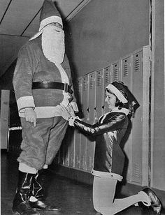 This might not be the most appropriate way to thank Santa.  Or maybe it is.  Depends on the gifts he brought.....
