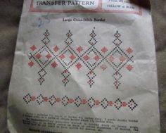 Vintage McCall Kaumagraph Transfer PATTERN - Cross Stitch - FREE SHIPPING