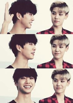Bang and Zelo - B.A.P look it's my bias and my other bias!