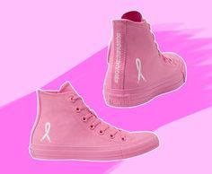 A Converse, em parceria com a Fundação Laço Rosa, desenvolveu uma nova versão do tênis Chuck Taylor, só que todo rosa e com os símbolos da campanha do Outubro Rosa!