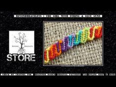 ▶ ► Friendship Bracelet Tutorial 38 - Beginner - Candy Wave - YouTube
