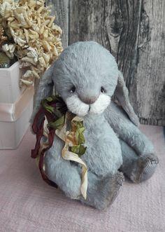 Роджер - серый, зайка тедди, кролик