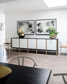 BLACK & WHITE: The final post in our B&W series comes from a residential renovation from 2017 - crisp white walls are an all-time favourite for creating a classic contemporary feel, and when mixed glossy black and brushed brass finishes, go a long way to looking and feeling fabulous 💅🖤🤍💛 To have your space #CuratedByCopperleaf, please DM us or visit our website for more information. Link in bio. 📷 @annalizenelphotography… Wet Room Bathroom, Wet Rooms, White Walls, Your Space, Entryway Tables, All About Time, Cabinet, Contemporary, Black And White