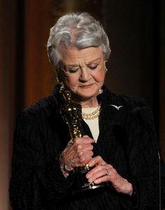 Angela Lansbury accepting an Honorary Oscar in 2013 ♥