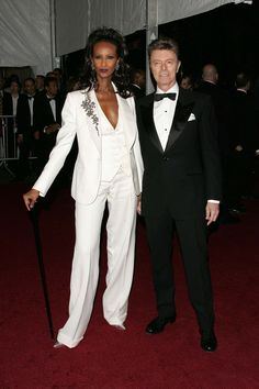 Iman, 2007 - A Met regular since the '80s, Iman has worn several dramatic pieces over the years, but her appearance in 2007—hand in hand with husband David Bowie in coordinating suits—provided the event with an ultimate best-dressed red carpet couple moment.