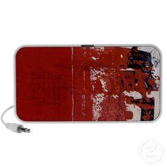 Red Grunge Texture Portable Speaker