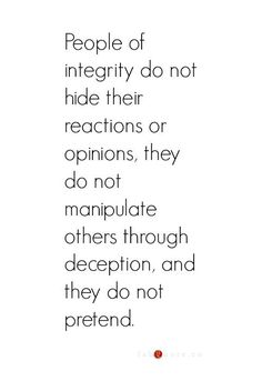 EXACTLY MY POINT!!!!! Integrity above all