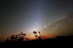 Mars, The Milky Way, A Meteor, The Zodiacal Light and a Bushfire - Nov 16, 2014