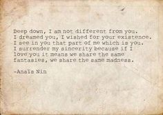 beautiful quote by Anais Nin