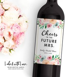 Bridal Shower Wine Labels Personalized Bachelorette Bottle