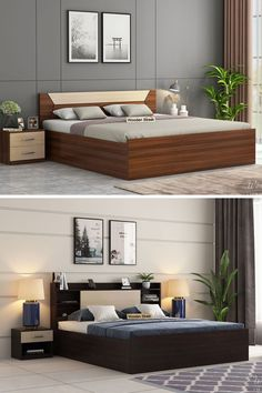 Wooden king size beds are no less than a throne of comfort which every person loves to reach after a long day. Its enormous size and additional features have always made it the most loved furniture unit in the house. Wooden Street has come ahead with instigating a wide range of solid wood king size beds online available with premium quality, stunning designs and lots of serviceability added. Buy King Size Bed, Wooden King Size Bed, Handmade Desks, Wooden Street, Long Day, Beds Online, Bed Storage, Bed Design, Bedroom Furniture