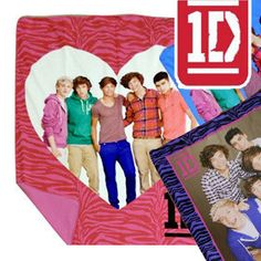 One Direction Fleece Plush Blanket - Assorted DesignsPlease?  Can I have  a one direction blanket?  I'll get one for you too, @Lauren Phelps  @Kayla Satcher @ameliastrahan