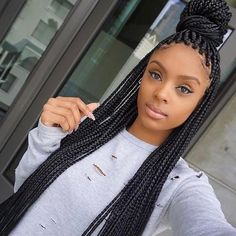 cool 60 Superlative Ideas for Box Braids Styles - The Perfect Ways of Rocking Braids Check more at http://newaylook.com/best-ideas-for-box-braids/