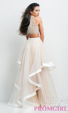 Image of Long Two Piece Prom Dress by Terani  Style: TI-P0102 Back Image