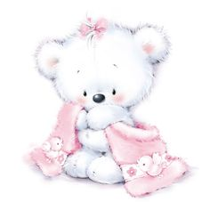 Adorable Baby Girl Teddy Bear with Her Blankie. Tatty Teddy, Cute Images, Cute Pictures, Baby Motiv, Baby Animals, Cute Animals, Blue Nose Friends, Cute Clipart, Clipart Baby