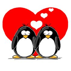 penguin love by Jen Goode