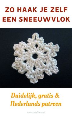 So hook up a snowflake, clear, free and dutch pattern. Crochet Snowflake Pattern, Crochet Snowflakes, Crochet Patterns, Crochet Christmas Decorations, Christmas Crafts, Learn To Crochet, Diy Crochet, Sunburst Granny Square, Pocket Letters