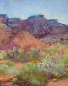 'John Wayne Country'  8x10 pastel   Karen Margulis psa