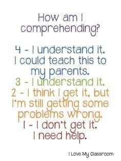 How am I comprehending?
