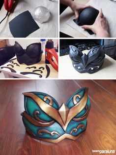 Worbla's Black Art breastplate write up Explanation can be found under the cut! ♥ [[MORE]]Making a breastplate like this one starts for many of us with making the round cups. The method by stretching...