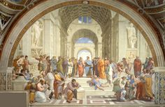 Fascinating Facts About Ten Famous Paintings (Image:  An Italian Renaissance painting by Raphael: The School of Athens.)  #art #artists