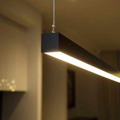 Linear Pendant Lighting [Custom Lengths Up To Office Lighting, Bar Lighting, Strip Lighting, Interior Lighting, Led Ceiling Light Fixtures, Led Ceiling Lights, Light Fittings, Linear Pendant Lighting, Kitchen Pendant Lighting