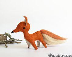 Zorro Antonio por dadanoias en Etsy  #fox #mrfox #littleprince #orange #toy #dadanoias #softsculpture #muñeco #felt #woolfelt #lana #fieltro #fieltrodelana #zorro