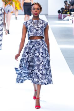 Top with flowy skirt. I would wear this, if it weren't midriff bearing.