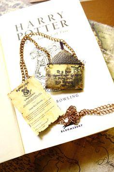 Harry potter necklace  Hogwarts letter =D