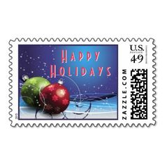 Christmas Baubles Decorations Postage Stamp