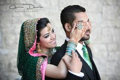 Dulha and dulhan Indian bride and groom Desi wedding Punjabi Pakistan this is so sweet :)