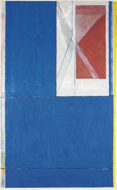 RICHARD DIEBENKORN (1922-1993) Blue, woodcut in colors, on Mitsumata paper, 1984, signed and dated in pencil, numbered 86/200