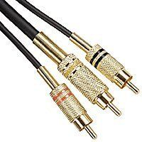 18ft Black Premium Cable RCA Stereo and RCA Composite Video Connectors by BESTPRICECABLES. $8.77. 18ft Black Premium (OFC) Combo Cable with 2x RCA Stereo and RCA Composite Video ConnectorsThis premium, 18-foot stereo audio/visual cable is ready to become an essential part of your home entertainment setup. The cable terminates on each side in two, gold-plated RCA male plugs. RCA plugs were developed by the Radio Corporation of America and have been in widespread use for ...
