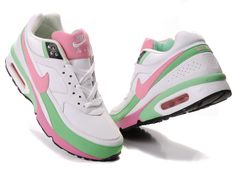 Nike Air Max BW Womens White Pink Green