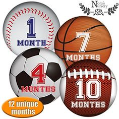 Sports Baby Monthly Stickers  Great Shower Gift or Photo Keepsake for Scrapbook ** Continue to the product at the image link.-It is an affiliate link to Amazon.