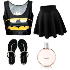 team Batman by cydn on Polyvore featuring polyvore fashion style Miss KG Chanel