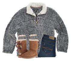 """""""going to see my grandma in the hospital!"""" by ponyboysgirlfriend ❤ liked on Polyvore featuring True Grit, Abercrombie & Fitch and UGG Australia"""