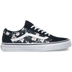 Vans Vintage Floral Old Skool ($60) ❤ liked on Polyvore featuring shoes, sneakers, multi, vintage shoes, lace up sneakers, floral print sneakers, lacing sneakers and skate shoes