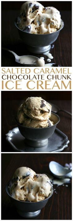 Low Carb Salted Caramel Chocolate Chunk Ice Cream | All Day I Dream About Food