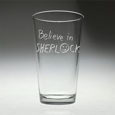 FREE SHIPPING Personalized Believe in Sherlock by FanGlasses