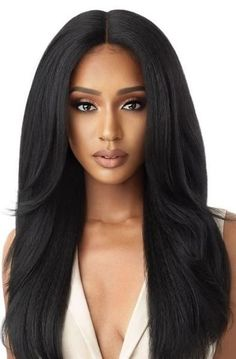 Outre Synthetic Color Bomb lace front wig - Verona is synthetic soft wig available in rare colors with natural baby hair, shop now for outre wigs Synthetic Lace Front Wigs, Synthetic Wigs, Outre Wigs, Body Wave Wig, Cheap Wigs, Afro Wigs, Short Straight Hair, Wigs For Sale, Womens Wigs