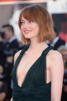 Emma Stone attends the Opening Ceremony and 'Birdman' premiere during the 71st Venice Film Festival at Palazzo Del Cinema on August 27, 2014 in Venice, Italy.