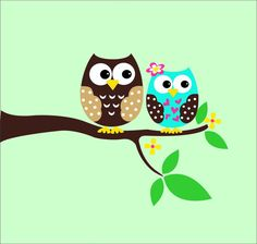 Kids Wall Art Owl Vinyl Wall Decals  Childrens Wall by LucyLews, $40.00