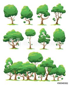 Set of vector trees of various forms