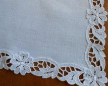 Vintage Linen Centerpiece Doily with Madeira Embroidery by LinensandThings, $20.00 - Google Search